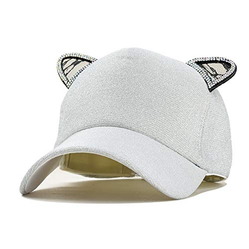 Amazon.com: Funnmart Snapback Cute Cat Ears Sequins Baseball Caps Women Fashion Lovely cat Adjustable Hip Hop Hat with Rings Bone Gorras Gift: Kitchen & ...