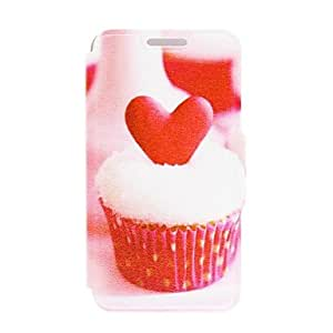 GJYKinston Heart of The Cake Pattern PU Leather Full Body Case with Stand for iPhone 5/5S