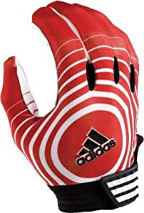 Adidas Supercharge Football Receiver Glove (Red/White, X-Large)