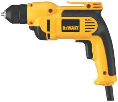 DEWALT DWD112 8.0 Amp 3/8-Inch VSR Pistol-Grip Drill with Keyless All-Metal Chuck