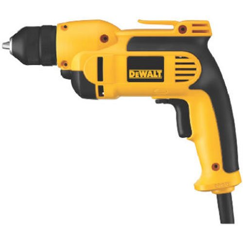 DEWALT DWD112 8.0 Amp 3/8-Inch VSR Pistol-Grip Drill with Keyless All-Metal Chuck -