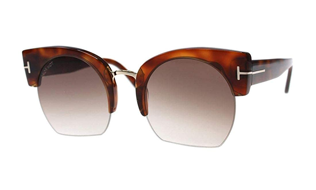 7eb9f0ebf3e20 Tom Ford FT0552 Savannah-02 Sunglasses 55 53F Blonde Havana Gradient Brown  at Amazon Women s Clothing store