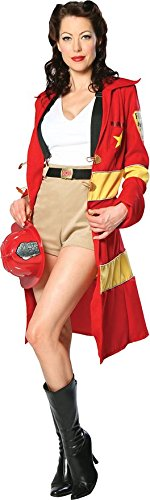 Fire Belle Fireman Girl (Firewoman) Adult Costume Size 6-8 Small