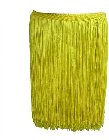 Yalulu 10 metros de largo 30 cm de ancho de poliéster flecos latino borla de encaje
