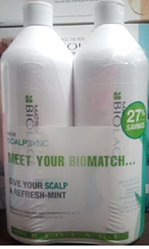 Biolage Energizing Shampoo - Matrix Scalptherapie Cool Mint Shampoo and Conditioner Liter Duo 33.8 oz