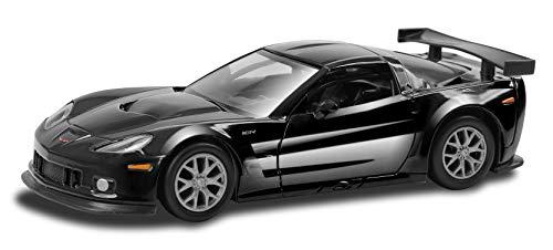 Carro Hot Wheels Luzes E Sons Chevrolet Corvette 1: 32 Diecast Hot Wheels Preto