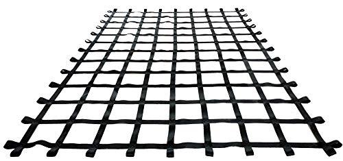 FONG 11' X 8' Climbing Cargo Net Black - Swing Set Accessories - Indoor Climbing net - Outdoor Playground Swing, Belt Swing, Playground Hanging Step Ladder
