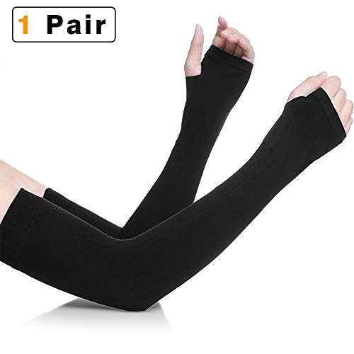 - NIANPU UV Protection Cooling Arm Sleeves - UPF 50 Long Sun Sleeves for Men & Women. Perfect for Cycling, Driving, Running, Basketball, Football & Outdoor Activities (Black)