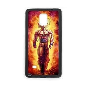 Dragon Ball Goku I2U5Dk Funda Samsung Galaxy Note 4 funda caja del teléfono celular del teléfono celular Negro S6P8XC funda Activo