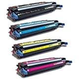 Generic Compatible Toner Cartridge Replacement for HP 3600dn ( Black,Cyan,Magenta,Yellow , 4-Pack )