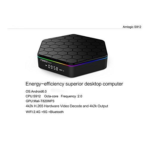 Norbi Android TV Box, KM8P 2+8G Pro Android 6.0 Amlogic S912 Quad Core TV Box