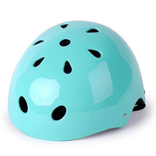 WIN.MAX WinMax Multi-sport Skateboarding Skating & Cycling Safety Bike Helmet for Kids (Robin Egg Blue, M) -