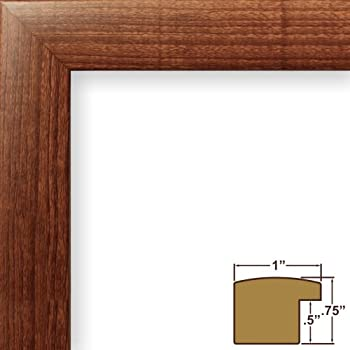 craig frames 23247616 11 by 17 inch picture frame smooth wood grain finish 1 inch wide walnut brown