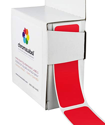ChromaLabel 1 x 3 inch Color-Code Labels | 250/Dispenser Box (Red)
