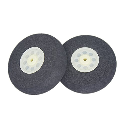 2pcs Small Light Sponge Tail Wheel Diam: 40mm Thickness:18mm Axle hole: 3.1mm For RC Airplane Replacement Parts