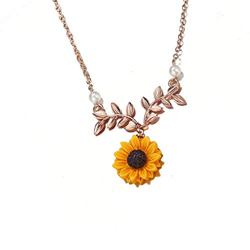 Liobaba Creative Fashion Women Necklace Sunflower Pendant Elegant Necklace Jewelry
