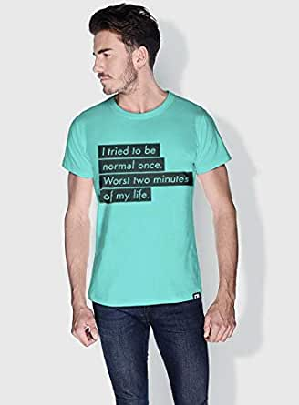 Creo I Tried To Be Normal Once Funny T-Shirts For Men - Xl, Green
