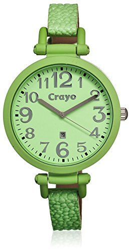 crayo-womens-cr0603-balloon-mint-leather-watch