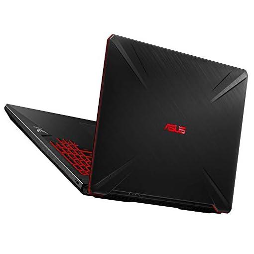 "ASUS TUF Gaming FX705GD-EW106 - Portátil Gaming de 17.3"" FHD (Intel Core i7-8750H, 16 GB RAM, 1 TB HDD + 256GB SSD, NVIDIA GeForce GTX1050 4 GB, Sin Sistema operativo) Negro - Teclado QWERTY Español 4"
