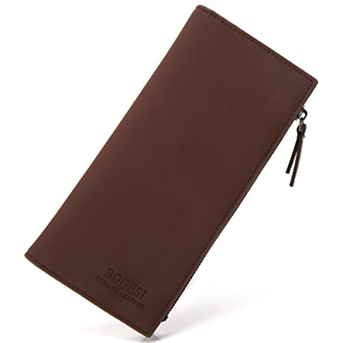 Fishagelo 26 Card Slots Secretary Wallet Business Cool Wallet Long Purse for Men Color : Color Coffee