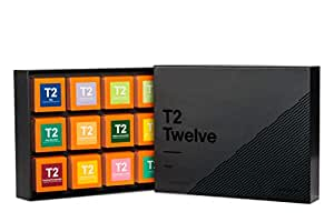 T2 Tea Twelves, Favorites Assorted Tea Sampler Gift Box, Pack of 12 Loose Leaf Black Teas, 450 Grams