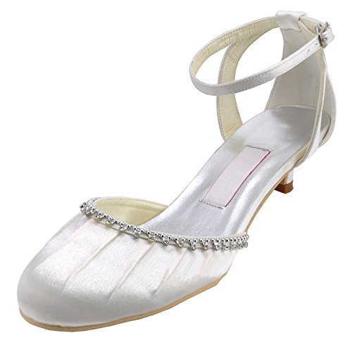 5cm Col Scarpe Tacco Minitoo Heel Ivory Donna OTqBPPwz