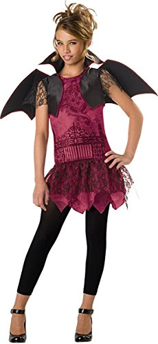 InCharacter Costumes Tween's Twilight Trickster Vampire Costume, Burgundy/Black, Large (Gothic Halloween Costumes For Tweens)