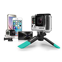 Portable Selfie Kit | Wireless Photo, Video, Selfies | Mini Tripod-Bluetooth Remote Shutter-Phone Holder | For iPhone Android GoPro and Digital Camera