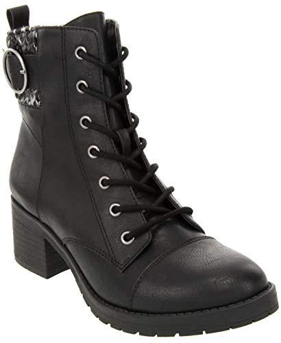 Sugar Women's Kiki Dress Block Heel Ankle Boot Ladies Side Zipper Bootie Black w/Sweater ()