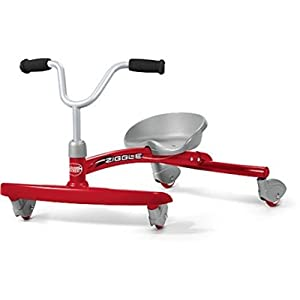 Foot-to-Floor Red Ziggle Solid Steel Frame Ride-On
