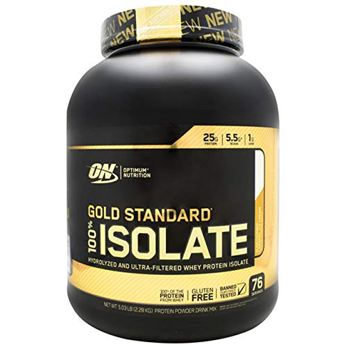Optimum Nutrition Gold Standard 100% Isolate 3 LB TUB 2019 44 Servings New HYDROLYZED and Ultra Filtered Premium Isolate Protein (5 LB Caramel Ice Cream) (2019 Best Whey Protein)
