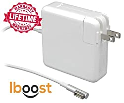 iboost MBT5500 Power Adapter Charger with Magnetic L-tip Magnetic for Macbook Pro- For Models Made Before 2012