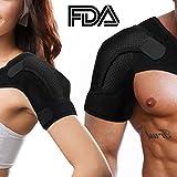 Rotator Cuff Brace for Women Men Shoulder Brace Support with Adjustable Belt and Sleeve, Pressure Pad for hot or ice Pack for Shoulder Impingement Syndrome, Tendonitis, Arthritis