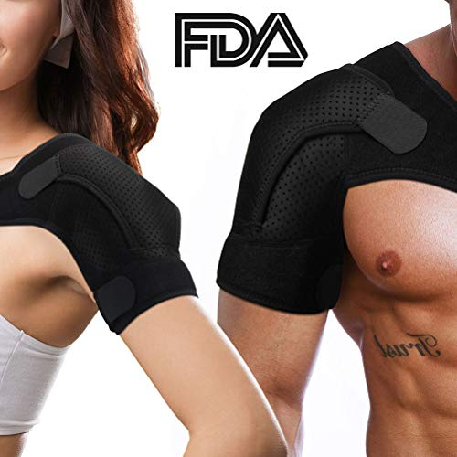 Rotator Cuff Brace for Women Men Shoulder Brace Support with Adjustable Belt and Sleeve, Pressure Pad for hot or ice Pack for Shoulder Impingement Syndrome, Tendonitis, Arthritis from SKMOO