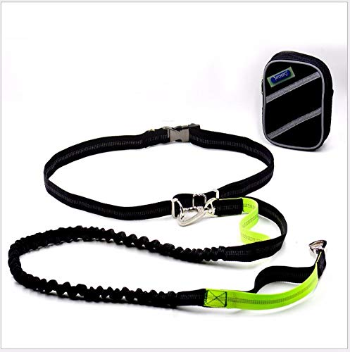 B Hhxx9 Dog Running Traction Set Reflective Sports Suit Belt Bag Slide Pet Sports Suit Belt 74-130Cm Traction Rope 130-160Cm,B