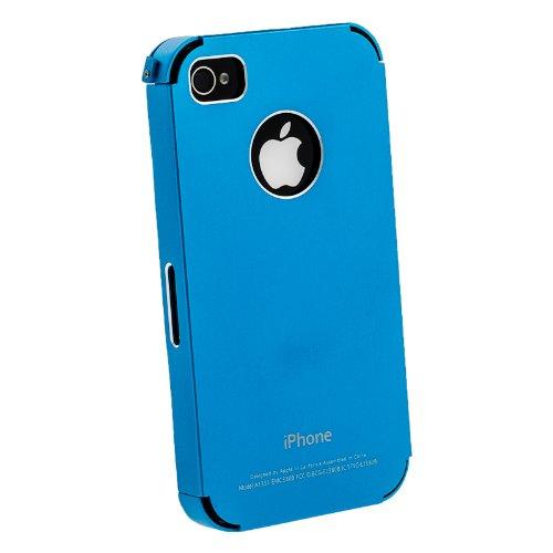 Aluminium Ultra dünne Schutzhülle Cover Case Schale für das iPhone 4 (nur iPhone4) metallic blau von HORNY PROTECTORS®