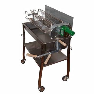 Automático BBQ Parrilla 70 x 32 cm Carbón vegetal Barbacoa Brochetas