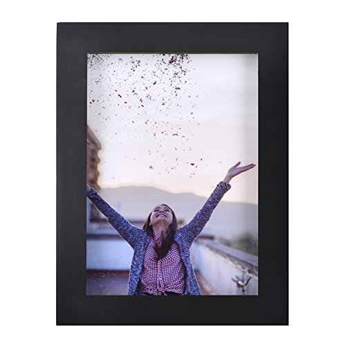 4x6 inch Picture Frame Made of Solid Wood High Definition Glass for Table Top Display and Wall mounting photo frame Black (4x4 Frame Photos For)