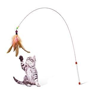 Zubita cat teaser kitten cat pet toy wire for Retractable cat toy