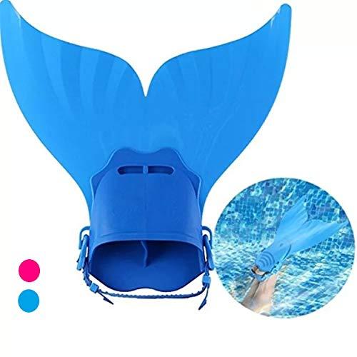 AIWANK Adjustable Mermaid Swim Fin for Swimming Training Girl,Boys,Kids,Children (Blue)