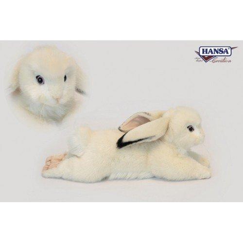 """Hansa Bunny Rabbit White Floppy Ears 15"""" Long from Hansa"""