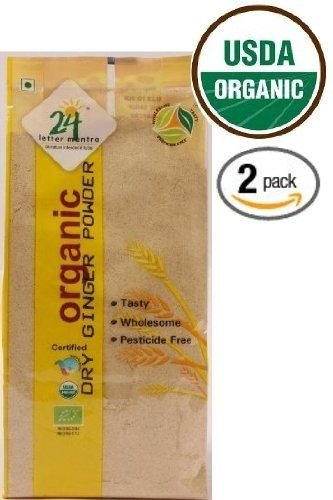 24 Letter Mantra Organic Dry Ginger Powder 3.5 Oz, Pack of 2, Free Shi