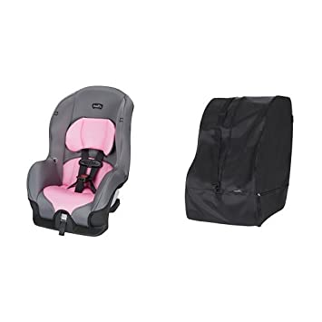 Evenflo Tribute LX Convertible Car Seat Pink Ice With Travel Storage Bag