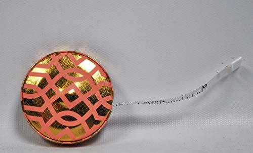 Fashion Smart Mini Metallic Retractable 5 Foot Tape Measure (Trellis)