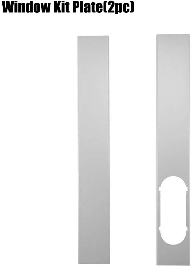 2 Piezas de Placa de Kit de Ventana Ajustable Manguera de Escape / 6 '' Conector de Adaptador de Ventana Aire Acondicionado portátil