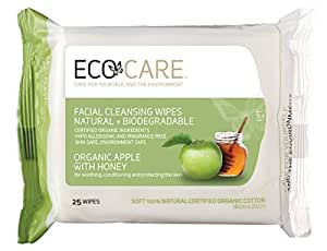 ECO CARE Facial Cleansing Wipes Organic Apple with Honey 25s by Ecocare