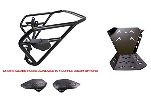 T-Rex Racing 2017-2019 Kawasaki Versys-X 300 Engine Guard Crash Cages Skid Plate - Black ()