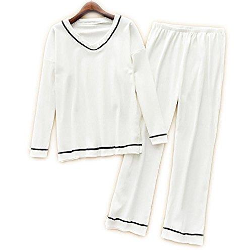 donne 3 white della Vestiti pezzi colori biancheria V casuali molli intima del 2 cotone del Neckline dei bianchi delle qaS4qZ