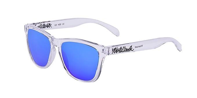 NORTHWEEK Creative Gafas de Sol, Bright White/Blue, 52 ...