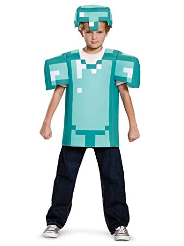 Minecraft Steve Costume For Halloween (Armor Classic Minecraft Costume, Blue, Medium)